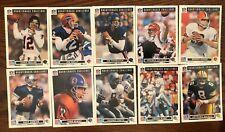1991 Upper Deck Dominos Pizza NFL Quarterback Challenge Complete 50 Card Set