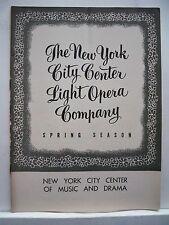 CAROUSEL Playbill DAVID ATKINSON / BARBARA COOK / JO SULLIVAN NYC 1954
