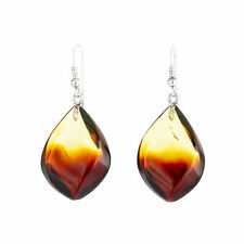 BALTIC AMBER SILVER EARRINGS gradient. Srebrne kolczyki z bursztynu GRADIENT