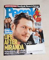 People Magazine October 19 2015 Blake Shelton Oregon Shooting Sandra Bullock