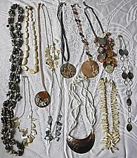 30S/80S VINTAGE SHELL M.O.P NECKLACES 12 IN TOTAL MIXED STYLES & COLOURS GROUP A