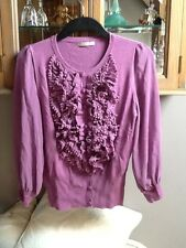 Darling lilac frilly cardigan M