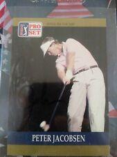 Peter Jacobsen #19 signed autograph auto 1990 Pro Set Golf Trading Card