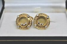Rare 18ct yellow gold cufflinks with floating diamonds over 1ct. 19.27g #G324