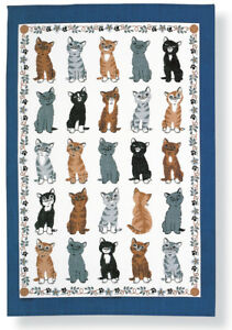 """Ulster Weavers, """"Kittens Arrived"""", Pure cotton printed tea towel."""