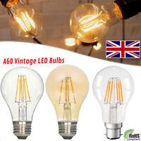 E27 A60 Screw 4W /6W Vintage Antique Retro Style Light Filament Edison Lamp Bulb