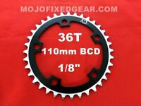 """RED 130 BCD Track Fixie single speed 1//8/"""" MOJO Fixed Gear Chainring 46T"""