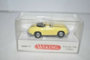 Wiking 160 40 PORSCHE 356 Cabriolet (Yellow) for Marklin - NEW w/BOX