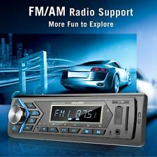Bluetooth Car Stereo Radio Receiver,Single Din Mechless Digital Media Receiver S