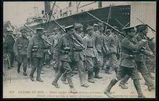 aa20 Propaganda WWI ww1 war soldiers prisoners camp original old c1915 postcard