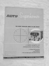 Narco SuperHomer Brochure Omni VHF Vintage Original