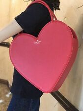 NWT $349 Kate Spade Authentic Rose Colored Glasses Doily Heart Red Tote Bag