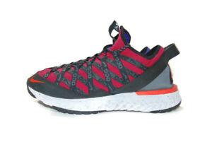 Nike ACG Sneakers Red Purple React Terra Gobe Noble Red Trail Running Mens 12
