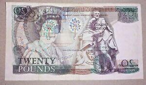 RARE Missprint Bank of England Old Twenty £20 Pound Note Shakespeare Somerset
