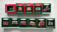 11 Noel R.R. Trains Collector's Series Hallmark Miniature Ornaments Complete Set