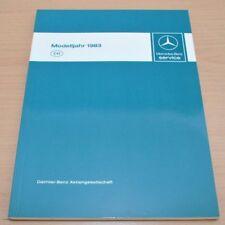 Mercedes Benz  W107 W123 W126 Modelljahr 1983 Schweiz  Werkstatthandbuch