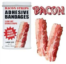 (15) Bacon Bandages Retro Tin Adhesive Band Aid Sterile Strips
