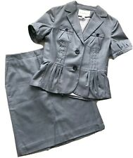 womens BANANA REPUBLIC Blue Peplum Jacket & Pencil Skirt SUIT size: 2 PERFECT!