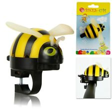 Bumble Bee Bicycle Flick Bell for Kids Bikes - 22.2mm Handlebars