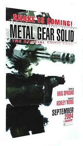 Metal Gear Solid Retailer Promo Poster Folded Ashley Wood 2004 IDW Publishing