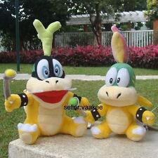 "2Pcs Super Mario Bros 3 Koopalings Iggy & Lemmy Koopa 6"" Twins Bowser Plush Toy"