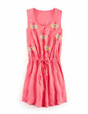 BODEN  BNIB Embroidered Tie Waisted Dress - Pink  - UK 10 R