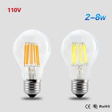 E27 LED Bulb 2W 4W 6W 8W Dimmable Edison Lamp Retro Filament Light  AC110V 120V