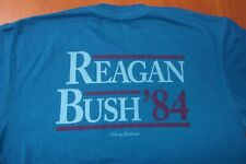 Rowdy Gentleman Reagan Bush 84' Political Authentic Cotton Blend T-Shirt L ~NEW~