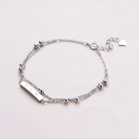 Real 925 Sterling Silver Jingle Bracelet Chain Bangle SOLID SILVER Jewelry Italy