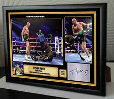 Tyson Fury v Deontay Wilder 2 Las Vegas Framed Canvas Print Signed Great Gift #2