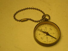 vintage dry compass Japan directional THE LOCKS SOO Michigan souvenir key chain
