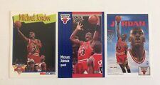 3 Michael Jordan Cards Chicago Bulls NBA Hoops 317 Collectors Choice 75 Fleer 29