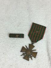Médaille croix de guerre et son rappel avec citation 1914 1917