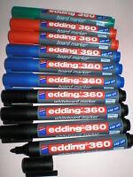 10 Stück Edding 360 board-marker farb sort 1,5-3mm Boardmarker Stift Whiteboard