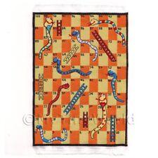 Miniatura Para Casa De Muñecas Pequeño Niños Alfombra con serpientes y Escaleras