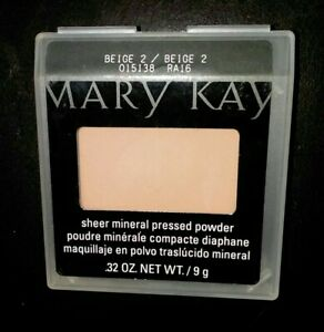 Mary Kay Sheer Mineral Pressed Powder Beige 2 - #015138 Full Size .32
