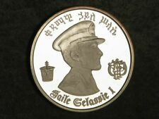 ETHIOPIA 1972 5 Dollars Haile Selassie Silver Crown Choice Proof