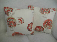 "CARMEN LINEN/COTTON FABRIC  BY ROMO 1 PAIR OF 18"" CUSHION COVERS"