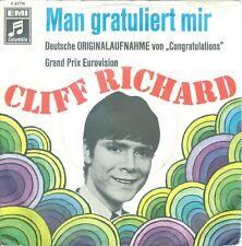 """CLIFF RICHARD - MAN GRATULIERT MIR (CONGRATULATIONS GERMAN SUNG) 7""""PS 1968"""