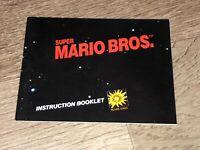 Super Mario Bros. Instruction Manual Booklet Nintendo Nes Authentic