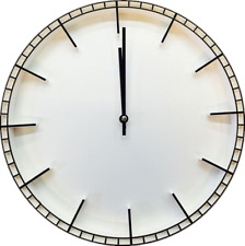 38cm Quarz Wanduhr leise lautlos Bahnhofuhr Uhr Modernuhr weiss