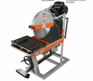 "14"" Norton Clipper Masonry Saw BBL527 Electric Blockbuster Baldor 460V 3 Phase"