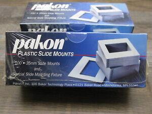 PAKON Plastic 35MM Slide Mounts for 35MM Transparency Film - 2 Boxes of 100