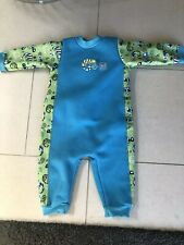Splashabout warm in one wetsuit L 6-12 mth Baby Boy Or Girl Spf50 Swimsuit