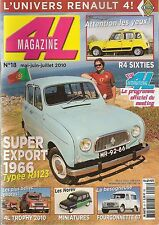 4L MAGAZINE 18 R4 EXPORT SUPER 1966 RENAULT 4 FOURGONNETTE 67 R4 SIXTIES 1985