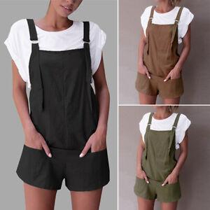 ZANZEA Women Basic Plain Short Shorts Jumpsuit Playsuit Overalls Hotpants Romper