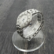 Rise-on Must de Cartier 21 Stainless Steel Silver Ladies Quartz Wrist Watch #24