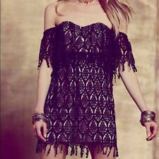 Stone Cold Fox Off The Shoulder Black Lace Iowa Dress Brand New With Tags Small