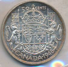 CANADA 50 CENTS 1948 - ICCS MS-63