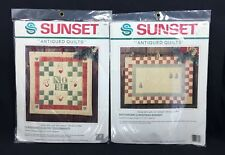 Patchwork Christmas Antiqued Quilts Banner Country Toys Sunset Kits SEALED 2